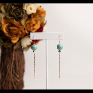 New handmade 14k gold filled drop earrings